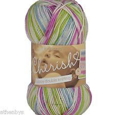 King Cole Cherish DK 100%25 Acrylic Self Patterning Knitting Yarn 100g Balls