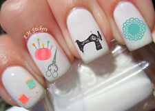 Sewing Tools Nail Art Stickers Transfers Decals Set of 56