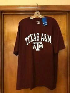 Texas A & M Men's S/S T-Shirt Maroon/White Size 2XL NWT FAST SHIPPING