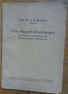Judaika KZ ARZT THERESIENSTADT Prof Dr A wolff - Eisner Mangelerkrankung JUDE