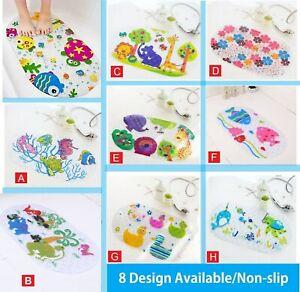 Kids Baby Non-slip Bath Mat Bathtub Stickers Cute Design SUPER STRONG SUCTION