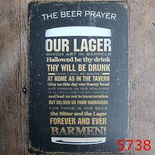 Metal Tin Sign the beer prayer Bar Pub Vintage Retro Poster Cafe ART