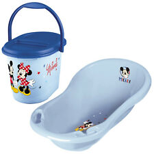 Keeeper 2-teiliges Badeset MICKEY MOUSE Badewanne mit Windeleimer light blue