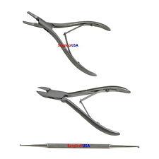 Podiatry Instruments Kit of 3 English Anvil Splitters Nail Splitters Curettes