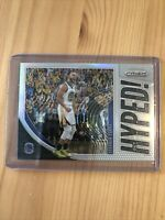 2019-20 Panini Prizm Stephen Steph Curry Get Hyped! Silver Prizm Warriors SP