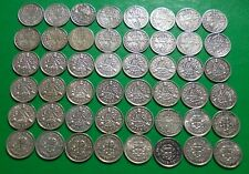 More details for 48 x 50% silver 3d coins. 1920  to 1945 threepence- some good grades