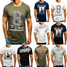 T-Shirt Tee Kurzarm Rundhals Aufdruck Classic Herren Mix BOLF 3C3 Print WOW