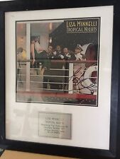 LIZA MINNELLI - Tropical Nights Signed Album Cover Mounted & Framed With Plaque