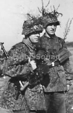 WW2 Picture Photo German SS troops date unknown with MP 40 machine gun 1329