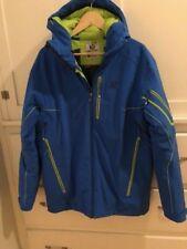 Salomon RECCO Men's Size L Ski Jacket Blue Insulated Pristine Condition Snowboar