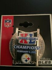 NFL Sports Mem. Souvenirs, Pitts. Steelers, Super Bowl XL (40) Pin/tack New Nice