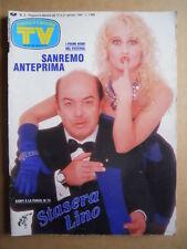 TV Sorrisi e Canzoni n°3 1989 Lino Banfi Heather Parisi Speciale Sanremo  [C92]