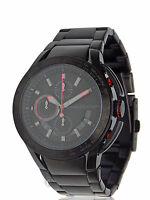 NEW MENS ARMANI EXCHANGE A X (AX1404) BLACK RED STAINLESS STEEL WATCH SALE!