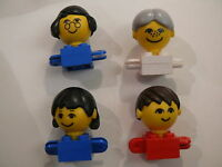Lego 4 personnages anciens / 4 homemakers figures