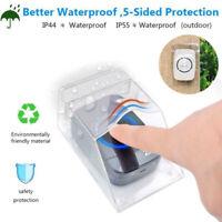 Transparent Waterproof Cover for Wireless Doorbell Home Door Bell Chime Kit