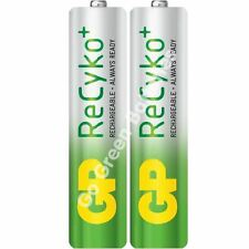 2 x GP Recyko AAA 800 mAh Rechargeable Batteries (850 mAh) NiMH LR03 HR03 Phone