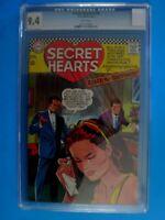 Secret Hearts 118 CGC Graded 9.4 Romance Comic White Pages ! ! !