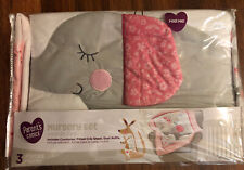 Nursery Crib Bedding Set 3 pc Comforter Fitted Sheet Dust Ruffle