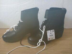 Bershka Ladies Black Faux Leather Boots - UK Size 5 *New w/ Tags*