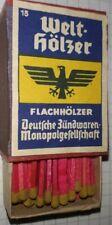 Welthölzer,  3.Reich, WW2, 1940 Wehrmacht Ausrüstung 2.WK Zündhölzer unbenutzt
