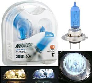 Nokya 7000K White H7 Nok7416 55W Two Bulbs Head Light Replace Motorcycle Bike