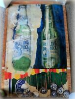 VINTAGE Rolling Rock Beer Pop Art Poster 1998 Latrobe Brewing, PA