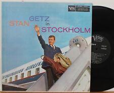 """Stan Getz In Stockholm"" LP ~ Verve 8213 ~ DG Mono ~ NM/VG++"