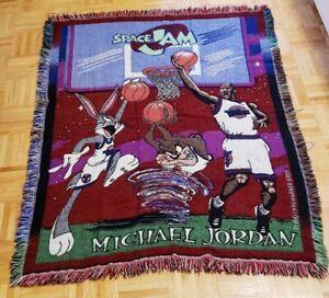 Vintage Speed Jam Michael Jordan Throw Blanket Rug Tapestry Buggs Bunny Tune