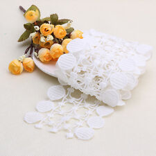 2 Yards White Polyester Lace Applique Sewing Trim DIY Crafts Trimming 10cm