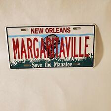 Jimmy Buffett New Orleans Margaritaville Parrott Vanity License Plate Save the