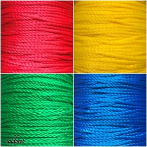 Multi Purpose String  - 4 Colours  Strong Bright Colours Polypropylene Silk