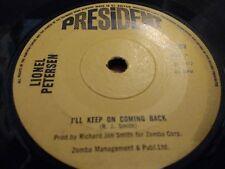 """Lionel Petersen """"voy a seguir en volver"""" 7"""" Single ex 1977 presidente"""
