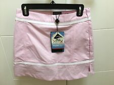 NEW Adidas Women's Skort Skirt 2 Golf Tennis Stretch Pink white ClimaCool