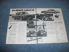 1984 Chevy Monte Carlo SS Vintage Performance Test Info Article
