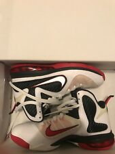Pre-Owned Nike Lebron 9 Scarface,  Size 7 ,White Red, Black