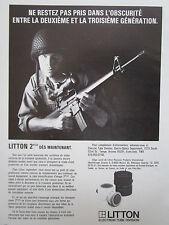 1/1982 PUB LITTON ELECTRON TUBE 2 PLUS NIGHT VISION COLT M16 US ARMY FRENCH AD