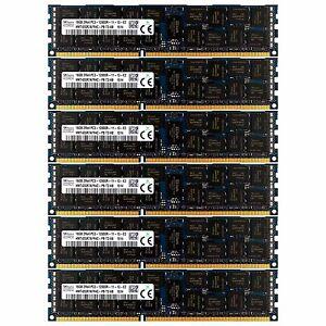 PC3-12800 6x16GB DELL POWEREDGE C2100 C6100 M610 M710 R410 M420 R515 MEMORY Ram