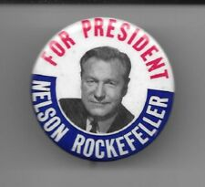 For President Nelson Rockefeller picture pinback button pin