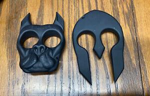 Brand New Brutus The Bulldog And Spartan Helmet Self Defense Key Chains  A Deal!