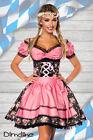 SEXY blusa donna vestito tirolese in jacquard ROSA FUCSIA NUOVO tg. XS S M L XL