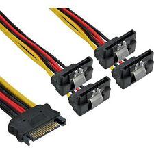 15cm inline sata power y-kabel 4-fach s-ata buchse an 4x winkel strom stecker