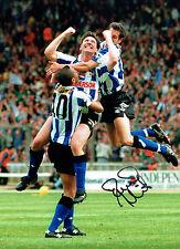 David HIRST Signed Autograph 16x12 Sheffield Wednesday OWLS Goal Photo AFTAL COA