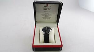 Wenger 01.9041.210C Men's Swiss Military Terragraph Leather Mens Watch