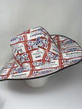 BUDWEISER COWBOY HAT Beer Box Anheuser Busch Carton Americana Patriotic AMERICAN