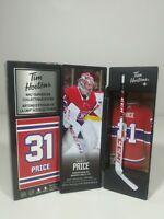 2020 Carey Price Tim Hortons Limited Edition NHL Superstar Stick / Locker NEW