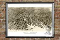 Vintage Baltimore, MD Map 1912 - Historic Maryland Art Old Victorian Industrial