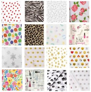 PATTERNED PRINT TISSUE - GIFT WRAPPING PAPER LUXURY SHEETS - ACID FREE 35x45cm