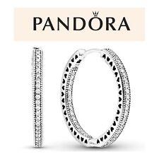 Pandora Sparkle & Heart Hoops Earrings