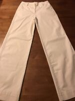 J. Crew Women's Pants Ivory Stretch Wide Leg Hi-Waist Pants Size 2 x 32 NWT