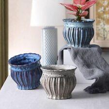 European Style Retro Ceramic Flowerpot Green Plant Potted Home Garden Decoration